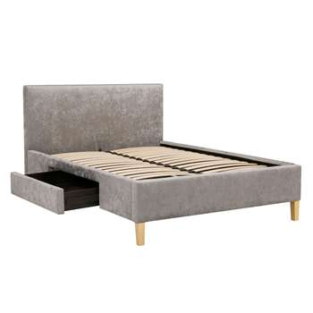 John Lewis & Partners Emily Storage Bed Frame, King Size, Grey (H125 x W164 x D216cm)