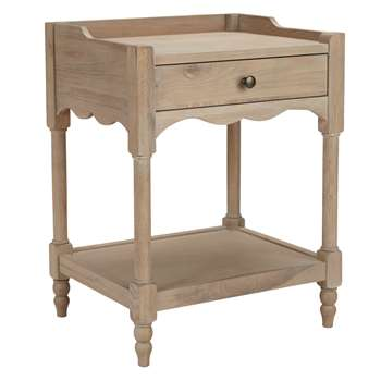 John Lewis & Partners Etienne 1 Drawer Bedside Table, Oak (H65 x W50 x D40cm)