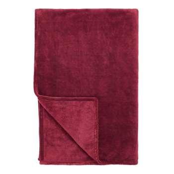 John Lewis & Partners Fleece Throw, Mulberry (H150 x W200cm)