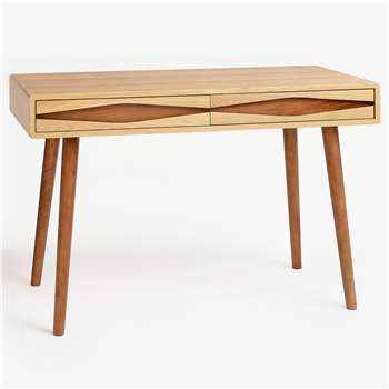 John Lewis & Partners Frequency Desk, Natural (H78 x W120 x D55cm)