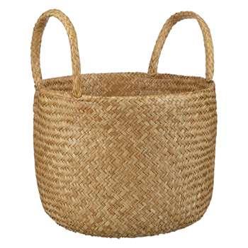 John Lewis & Partners Fusion Natural Seagrass Basket (H39 x W32 x D32cm)