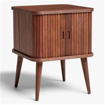 John Lewis & Partners Grayson Small Storage Side Table, Walnut (H58 x W45 x D45cm)