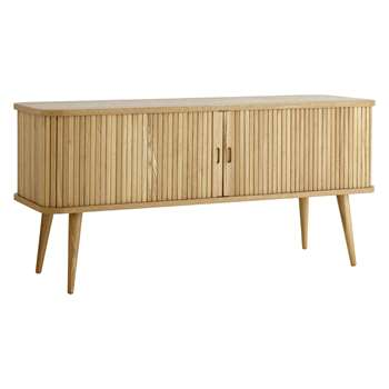 John Lewis & Partners Grayson TV Stand Sideboard for TVs up to 60, Natural (H57.5 x W120 x D40cm)