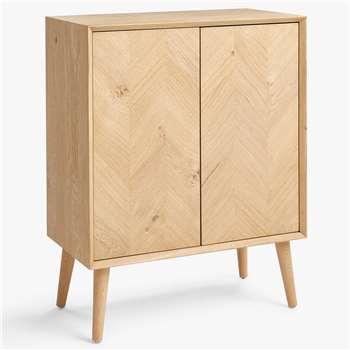John Lewis & Partners Haegan Storage Cabinet, Oak (H95 x W75 x D40cm)