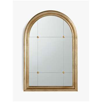 John Lewis & Partners Hamilton Arched Mirror, Country Silver (H90 x W60 x D3.5cm)