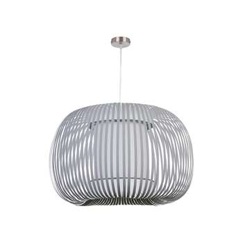 John Lewis & Partners Harmony Large Ribbon Ceiling Light, Grey (H40 x W60 x D60cm)