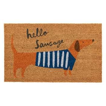 John Lewis & Partners Hello Sausage Door Mat (H40 x W60cm)