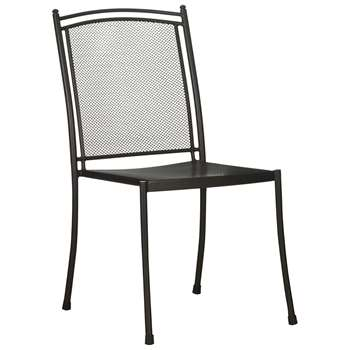 John Lewis & Partners Henley by KETTLER Outdoor Straight Side Chair, Grey (H90 x W45 x D58cm)