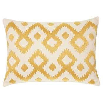 John Lewis & Partners Ikat Cushion, Saffron (H30 x W40cm)