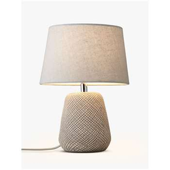 John Lewis & Partners Iona Small Table Lamp (H30 x W22 x D22cm)