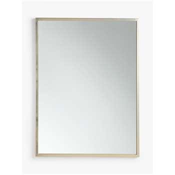 John Lewis & Partners Ivey Rectangular Wall Mirror, Nickel (H102 x W76 x D3cm)
