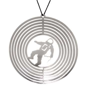 John Lewis & Partners Jet Spaceman Ring Tree Decoration, Silver (H10.5 x W10.5cm)