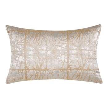 John Lewis & Partners Kyla Cushion, Gold / Silver (H60 x W40cm)
