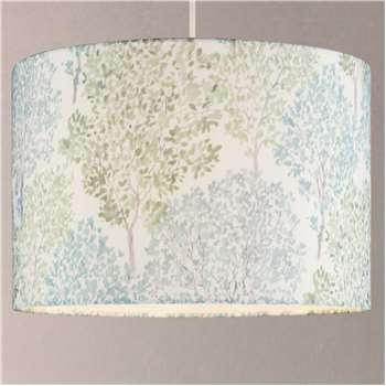 John Lewis & Partners Leckford Trees Lampshade, Green (H18 x W25 x D25cm)