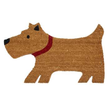 John Lewis & Partners Lewis The Scottie Dog Door Mat, Natural