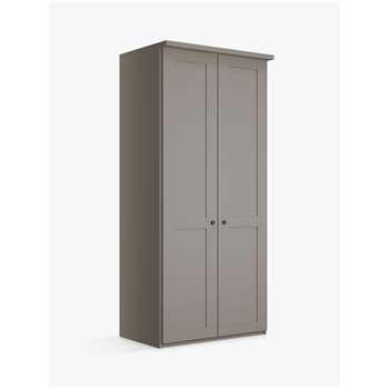 John Lewis & Partners Marlow 100cm Hinged Wardrobe, Pebble Grey (H220 x W100 x D58cm)