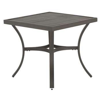 John Lewis & Partners Marlow Aluminium 4 Seater Garden Dining Table, Black/Grey (H75 x W83.2 x D83.2cm)