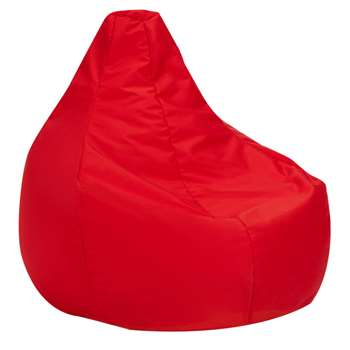 John Lewis & Partners Max Indoor / Outdoor Bean Bag, Red (H90 x W80 x D90cm)