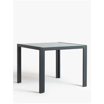 John Lewis & Partners Miami Ceramic Glass Top 4-Seat Garden Table, Grey (H75 x W95.3 x D95.3cm)