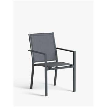 John Lewis & Partners Miami Garden Dining Chair, Grey (H86 x W55 x D60cm)