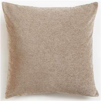 John Lewis & Partners Misano Velvet Cushion, Fawn (H50 x W50cm)