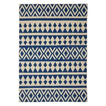 John Lewis & Partners Modasa Rug, Indigo/White (H180 x W120cm)