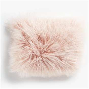 John Lewis & Partners Mongolian Cushion, Blush (H30 x W40cm)