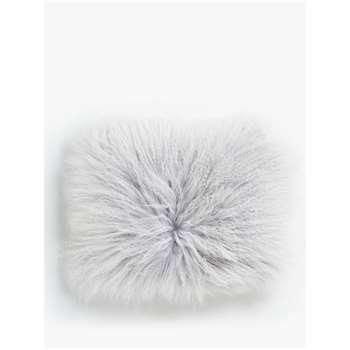John Lewis & Partners Mongolian Cushion, Pale Grey (H30 x W40cm)