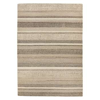 John Lewis & Partners Mosserud Stripe Rug, Grey (H170 x W240cm)