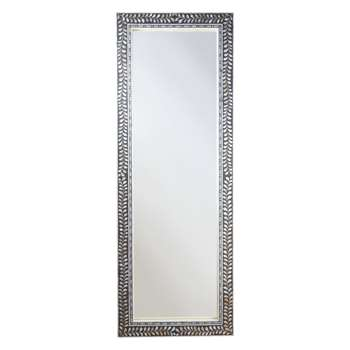 John Lewis & Partners Mother Of Pearl Frame Mirror, Multi (H180 x W65 x D2.5cm)