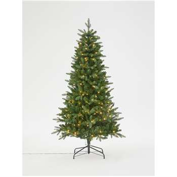 John Lewis & Partners Newington Pre-lit Christmas Tree, 6ft (H180 x W102 x D102cm)