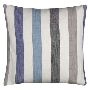 John Lewis & Partners Penzance Stripe Cushion, Blue (H45 x W45cm)