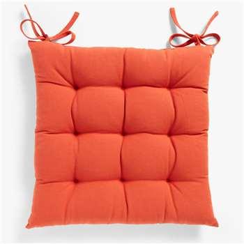 John Lewis & Partners Plain Seat Pad, Paprika (H43 x W43cm)