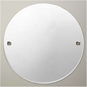 John Lewis & Partners Pure Bathroom Wall Mirror, Chrome (Diameter 45cm)