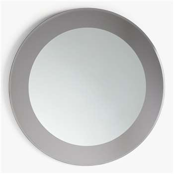 John Lewis & Partners Rok Layered Round Wall Mirror, Dia.80cm, Smoke (H80 x W80 x D2cm)