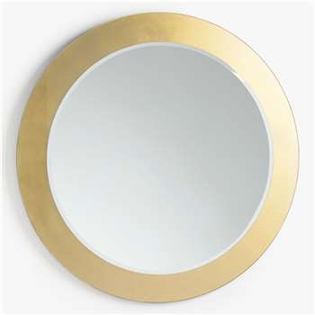 John Lewis & Partners Rok Layered Round Wall Mirror, Gold (H100 x W100 x D2cm)