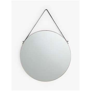 John Lewis & Partners Ronda Round Hanging Mirror, Silver (Diameter 50cm)
