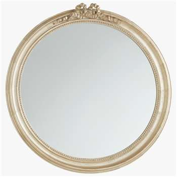 John Lewis & Partners Round Bow Mirror, Gold (H83 x W80 x D5.5cm)