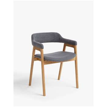 John Lewis & Partners Santino Dining Armchair, Grey/Oak (H76 x W55 x D51cm)