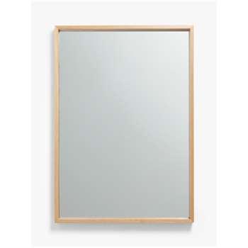 John Lewis & Partners Scandi Oak Wood Mirror, Natural (H105 x W74 x D6cm)