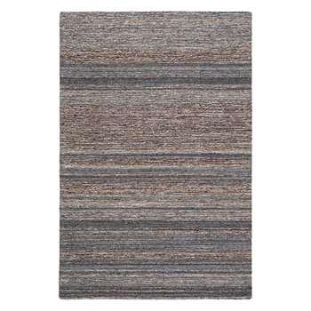 John Lewis & Partners Scandi Sketch Stripe Rug, Grey (H90 x W150cm)