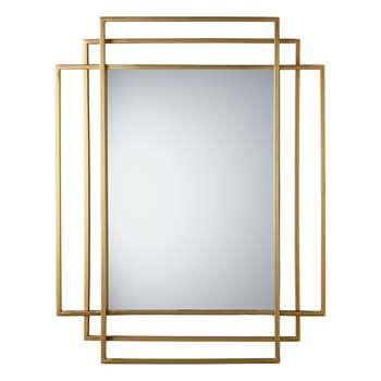 John Lewis & Partners Shanghai Mirror, Brass (H92 x W60 x D2cm)