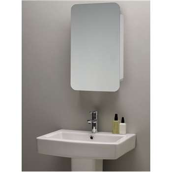 John Lewis & Partners Single Mirrored Sliding Door Bathroom Cabinet (H70 x W45 x D14cm)