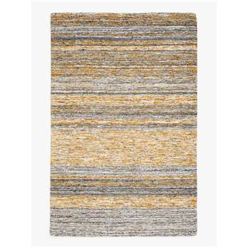 John Lewis & Partners Sketch Stripe Rug, Saffron (H240 x W170cm)