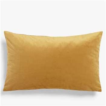 John Lewis & Partners Sloane Velvet Cushion, Gold (H35 x W55cm)