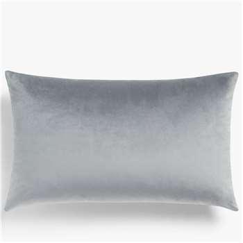 John Lewis & Partners Sloane Velvet Cushion, Steel (H35 x W55cm)