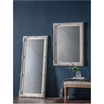 John Lewis & Partners Sophia Leaner Mirror, Cream (H156 x W67 x D7.5cm)