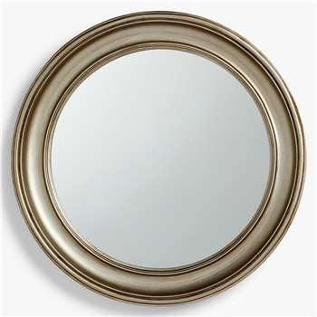 John Lewis & Partners Stirling Round Mirror, Silver (H64 x W64 x D6cm)