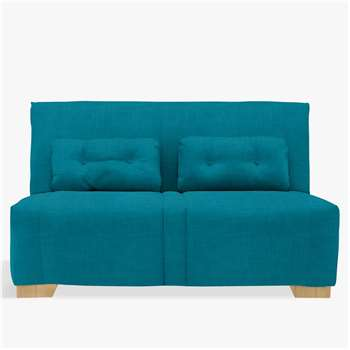 John Lewis & Partners Strauss Large 3 Seater Sofa Bed, Light Leg, Fraser Teal (H82 x W148 x D92cm)