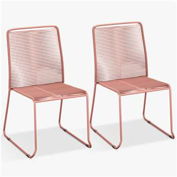 John Lewis & Partners String Garden Chairs, Set of 2 (H87 x W43 x D59cm)